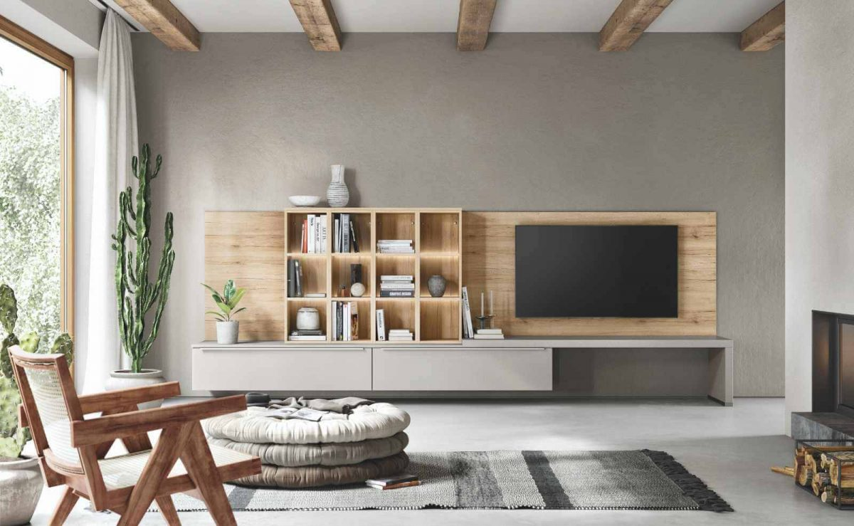 Moderne Wohnwand mit Möbeln von nobilia; Foto: nobilia
