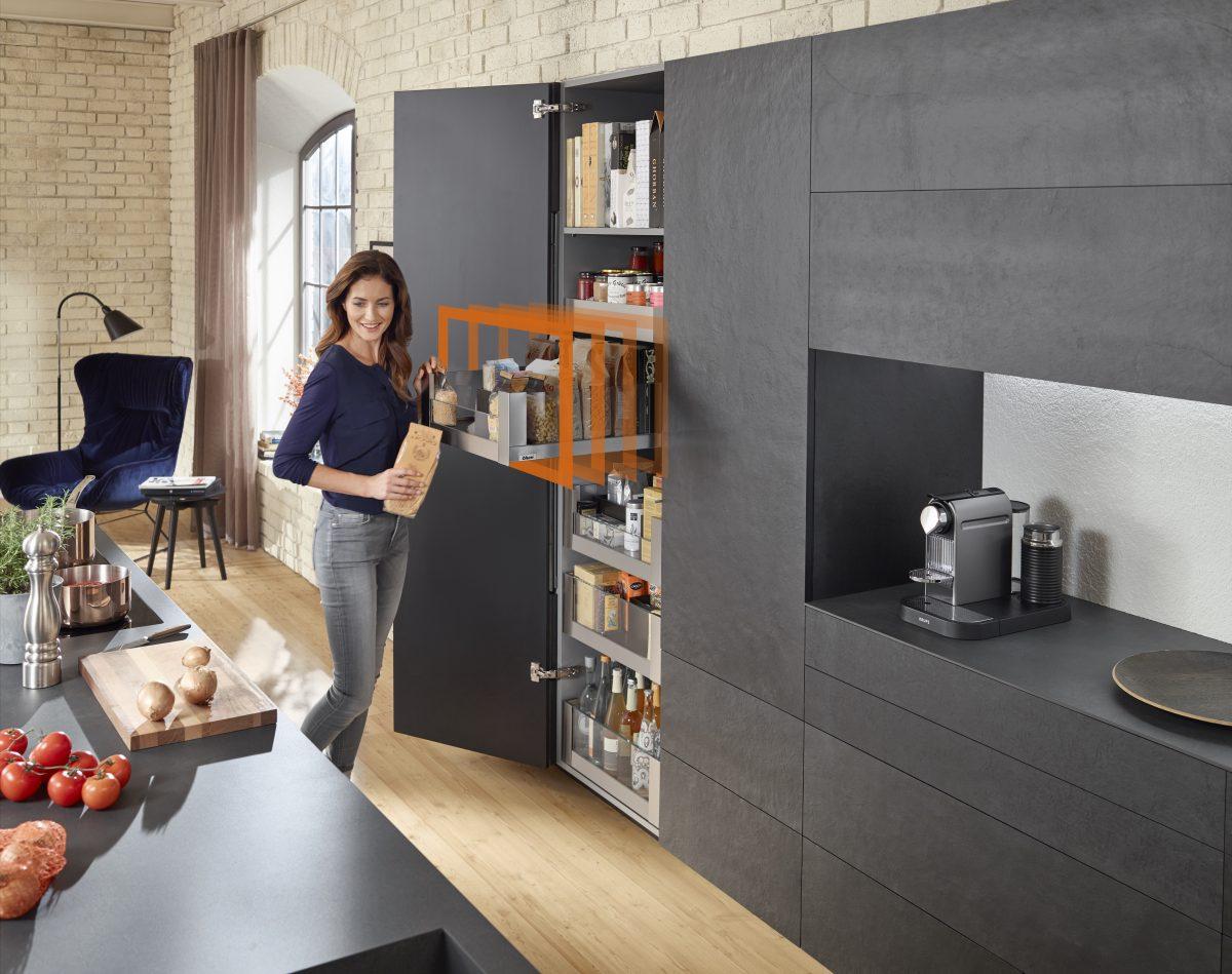 Geradlinig, schlank, purisitisch – LEGRABOX von Blum ist die Grundlage für edles Möbeldesign; Foto: Julius Blum GmbH