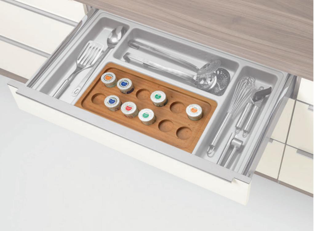 Gewürzeinsatz für Küchenschublade von Nolte; Foto: Nolte