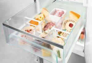 Auch Milchprodukte wie Käse oder Joghurt haben besondere Anforderungen in puncto Klima. Sie lagern ebenfalls am besten im DrySafe bei Temperaturen von knapp über 0°C.