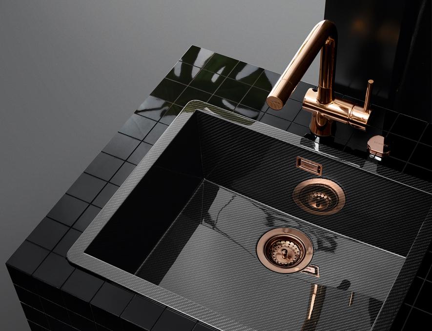 Küchenarmatur Laios mit Kupfer Beschichtung Chopper; Foto: SCHOCK