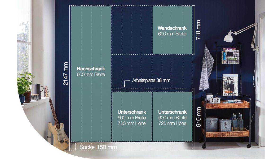 Die einzelnen Küchenelemente bei nobilia elements sind an die Standardmaße angepasst. Foto: nobilia elements