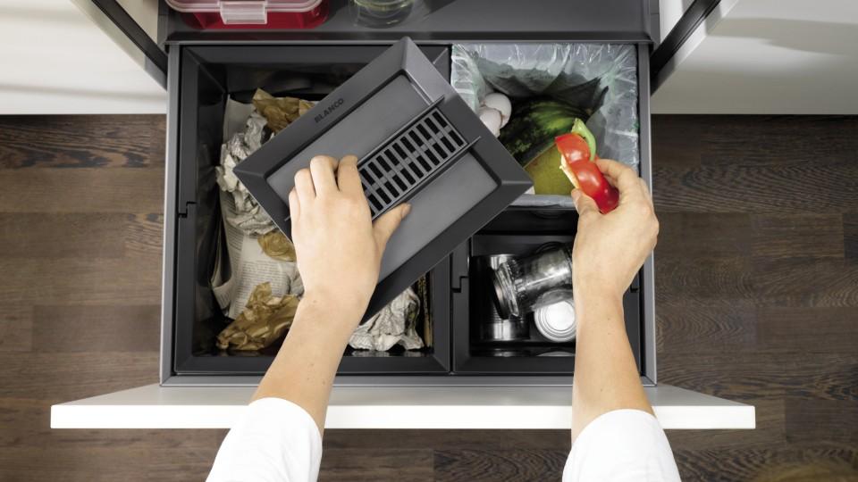 Mülltrennung Abfall System Spüle Küche Blanco