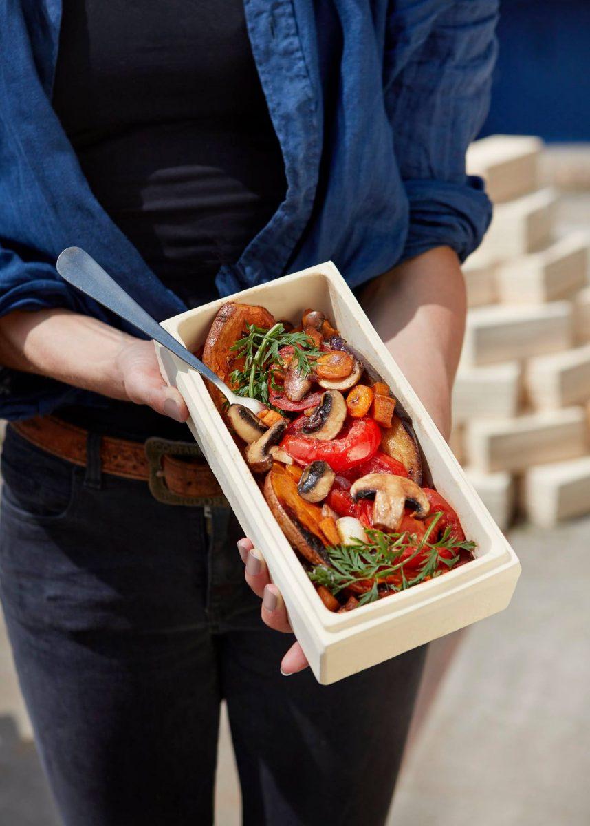Schonend gegartes Gemüse aus dem Brick von Römertopf; Foto: Facebook/roemertopf.de