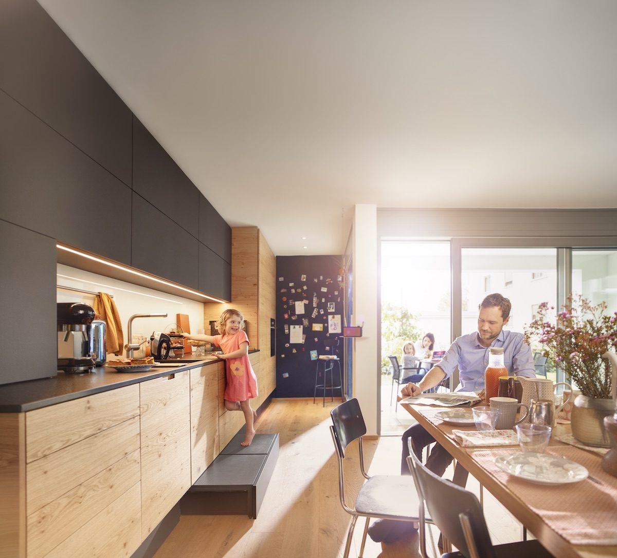 Eine gut organisierte Küche spart Wege und Zeit