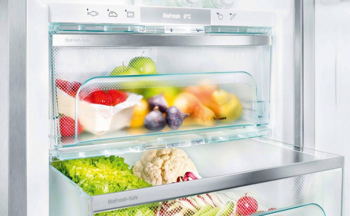 Kühlschrank von Liebherr mit speziellen BioFresh Safes für mehr Frische; Foto: Liebherr