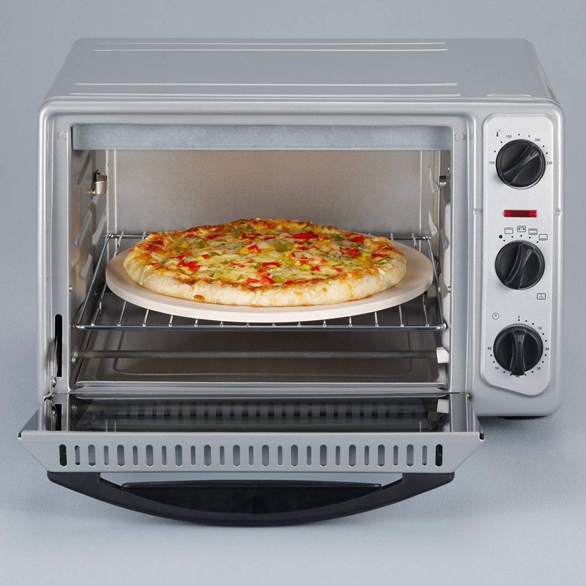 Tischbackofen von SEVERIN mit genügend Platz für eine Pizza; Foto: SEVERIN