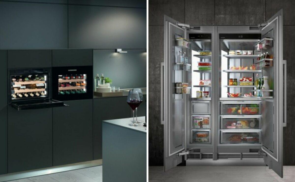 Liebherr Kühlschrank und Weinschrank schwarz