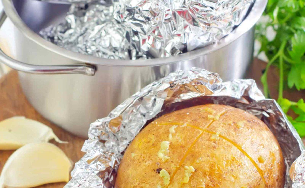 Zubereitung Folienkartoffeln