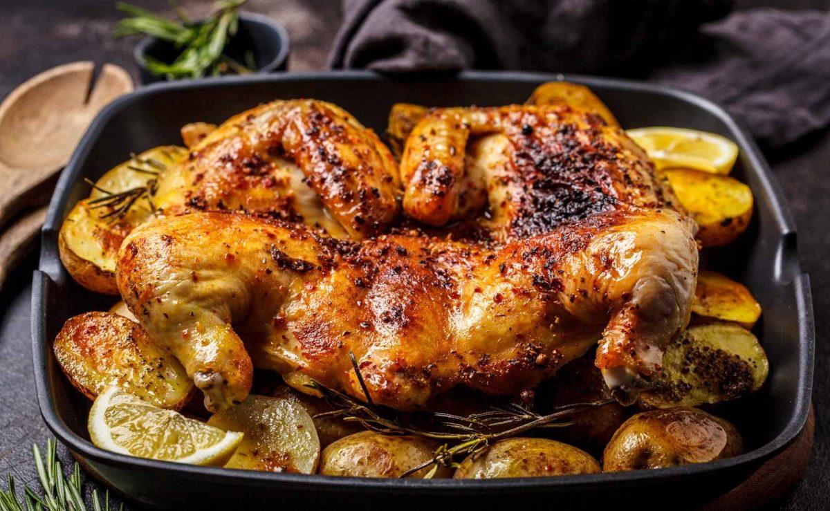 Huhn mit Zitrone und frischen Kräutern