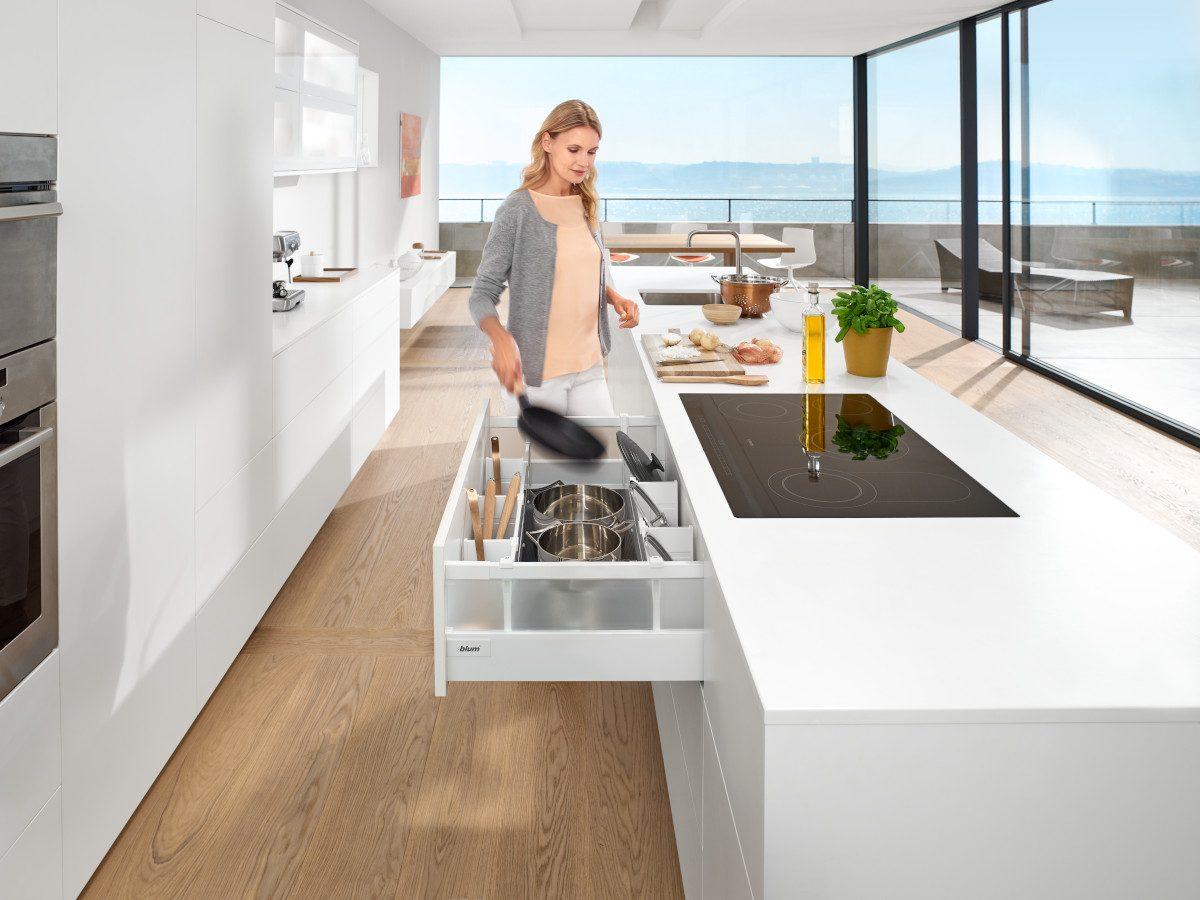 TANDEMBOX ist ein Allrounder für alle Wohnbereich. Foto: Julius Blum GmbH