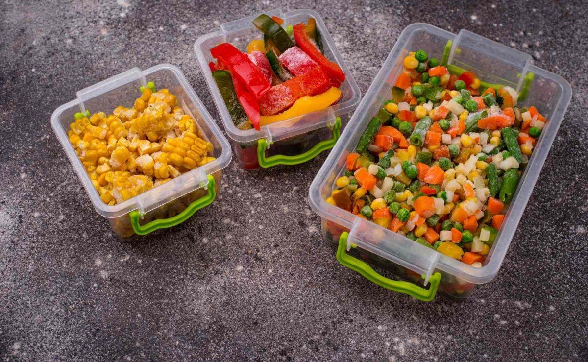 Gemüse in kleinen Portionen einfrieren