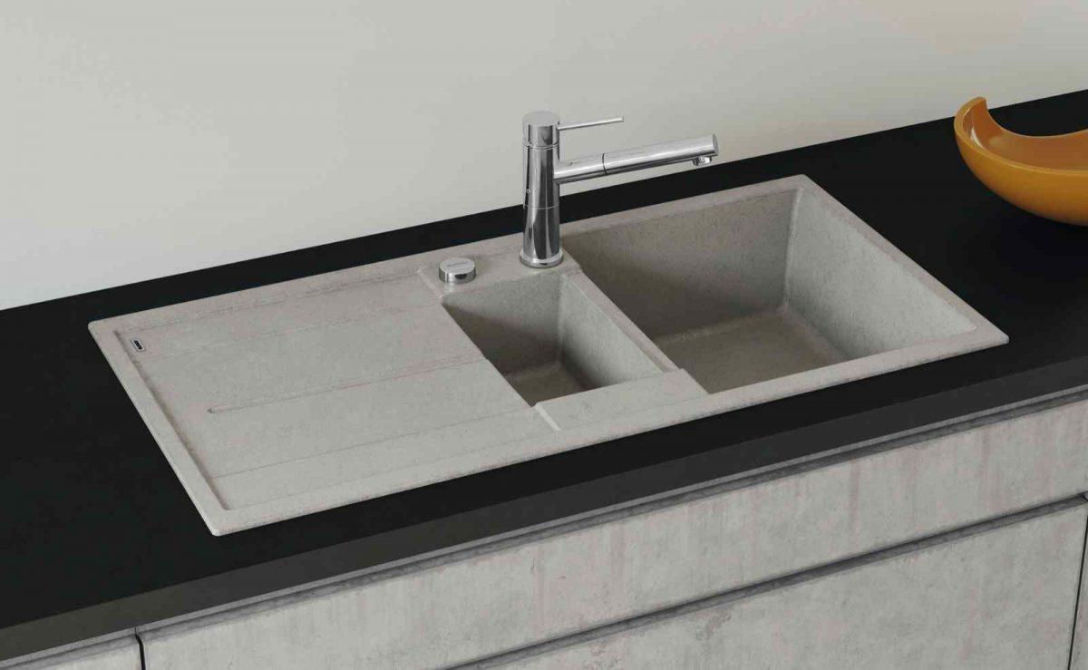 Metra XL Spüle im Beton Style wird in jeder Küche zum Blickfang; Foto: BLANCO