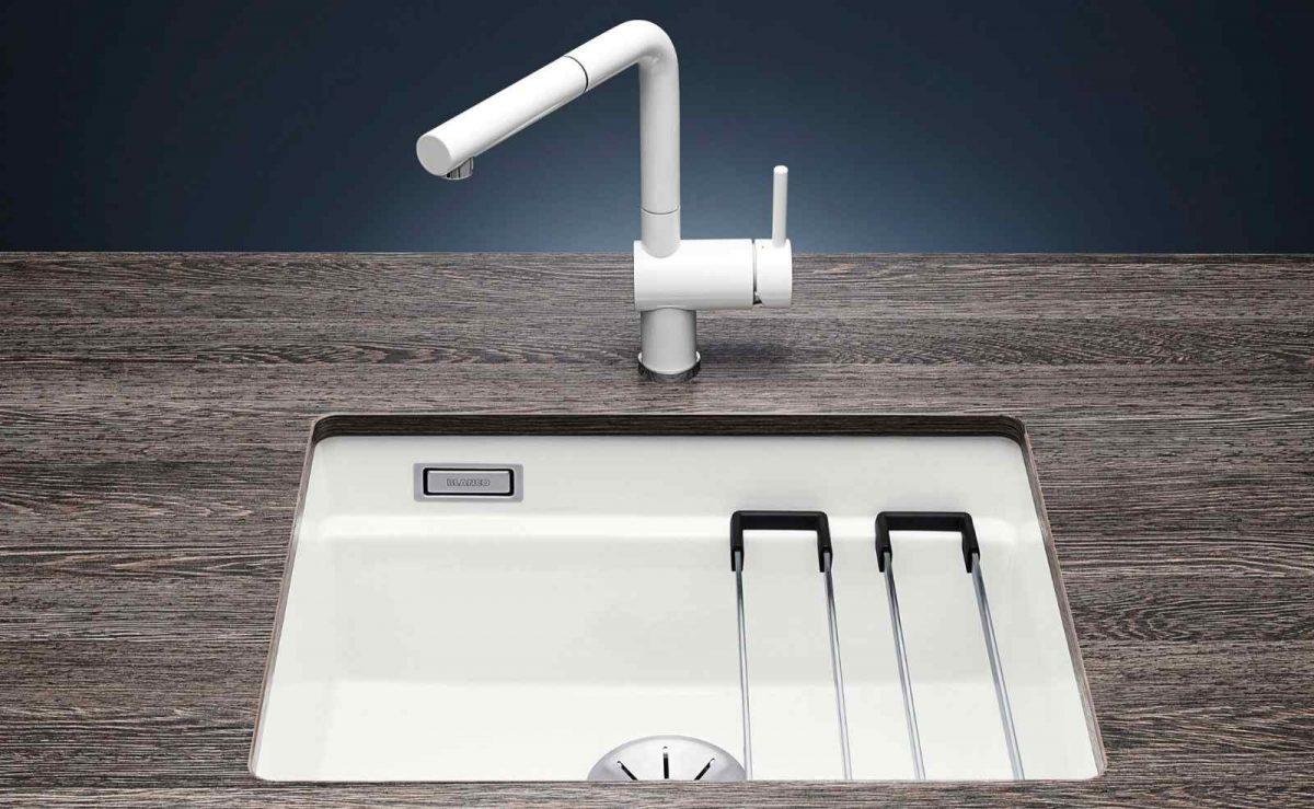 Design tritt auf Funktionalität: Die Etagon Spülen von BLANCO sind nicht nur prakitsch, sondern auch schön anzusehen; Foto: BLANCO