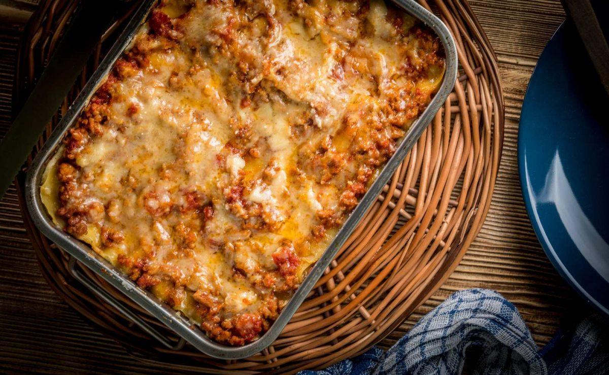 Rezept für klassische Lasagne mit Hackfleisch