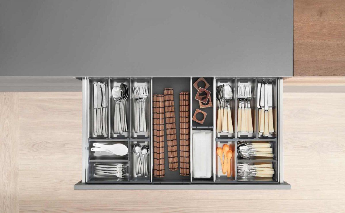 Der Besteckeinsatz ORGA-Line sorgt für Ordnung in deinen Schubladen; Foto: Julius Blum GmbH