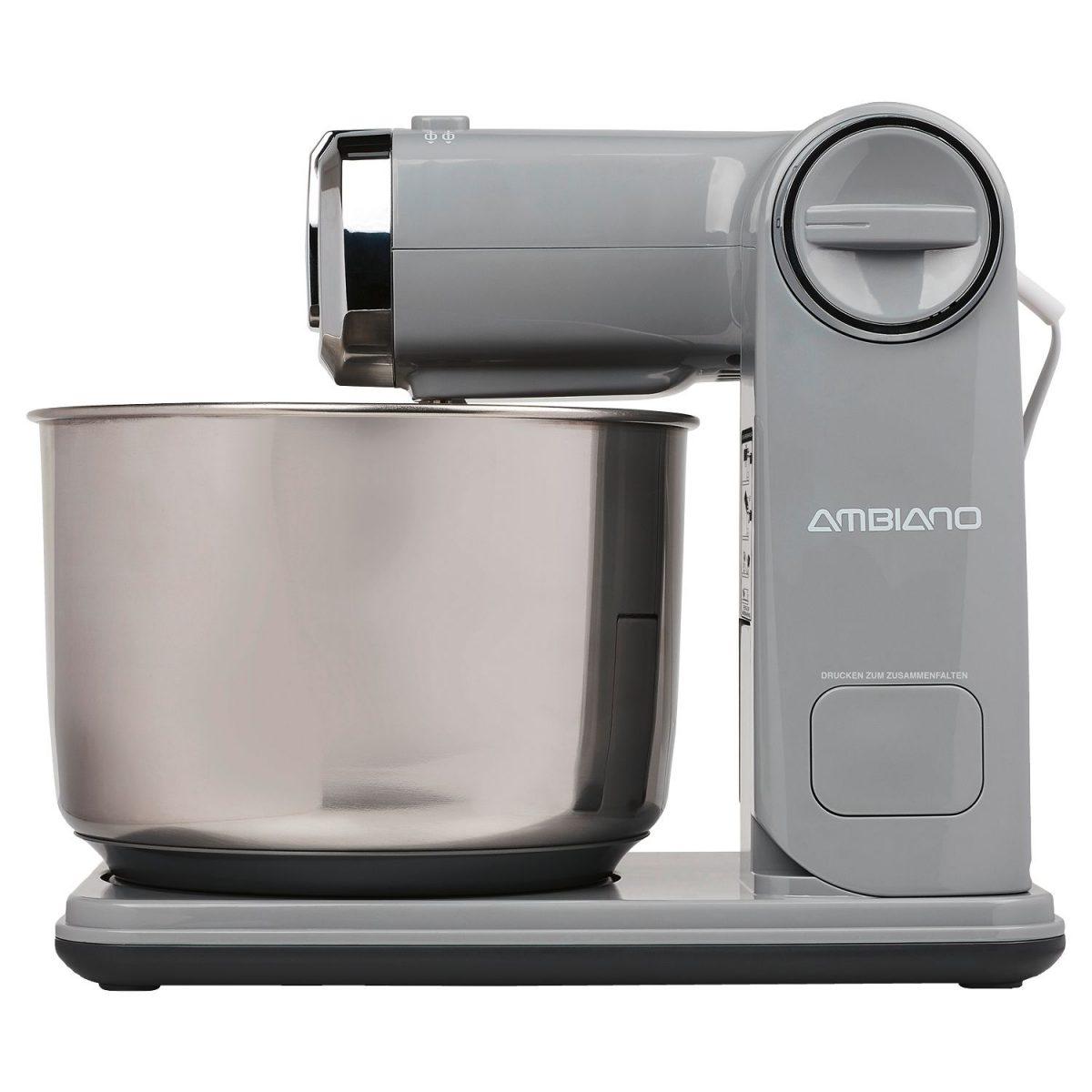 """Faltbare Küchenmaschine der Marke Ambiano von Aldi Süd in """"Grau""""; Foto: Aldi Süd"""