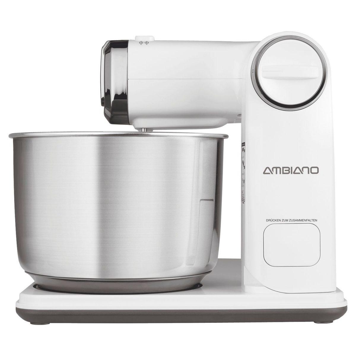"""Faltbare Küchenmaschine der Marke Ambiano von Aldi Süd in """"Weiß""""; Foto: Aldi Süd"""