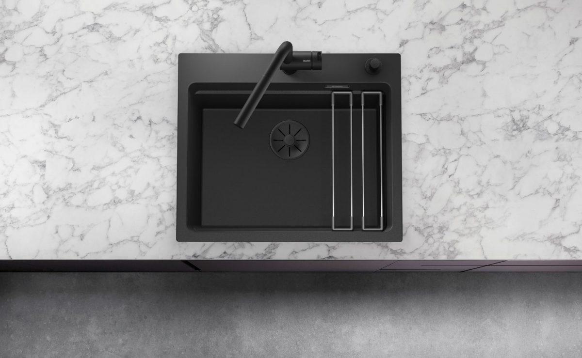 schwarze spüle blanco black edition