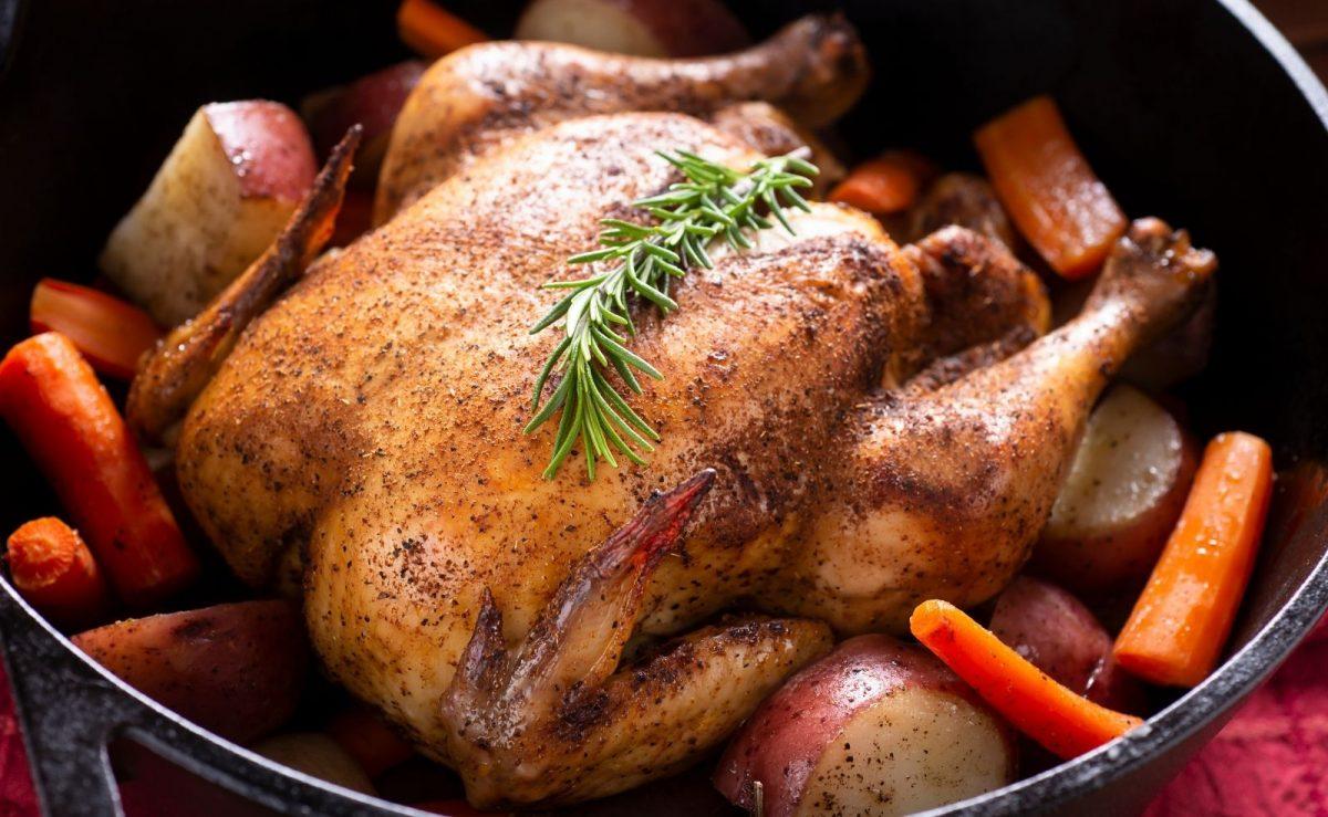 Huhn im Backofen zubereiten
