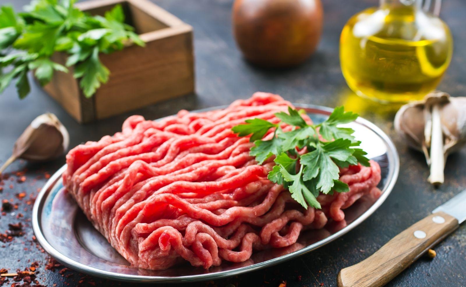 hackfleisch wird grau