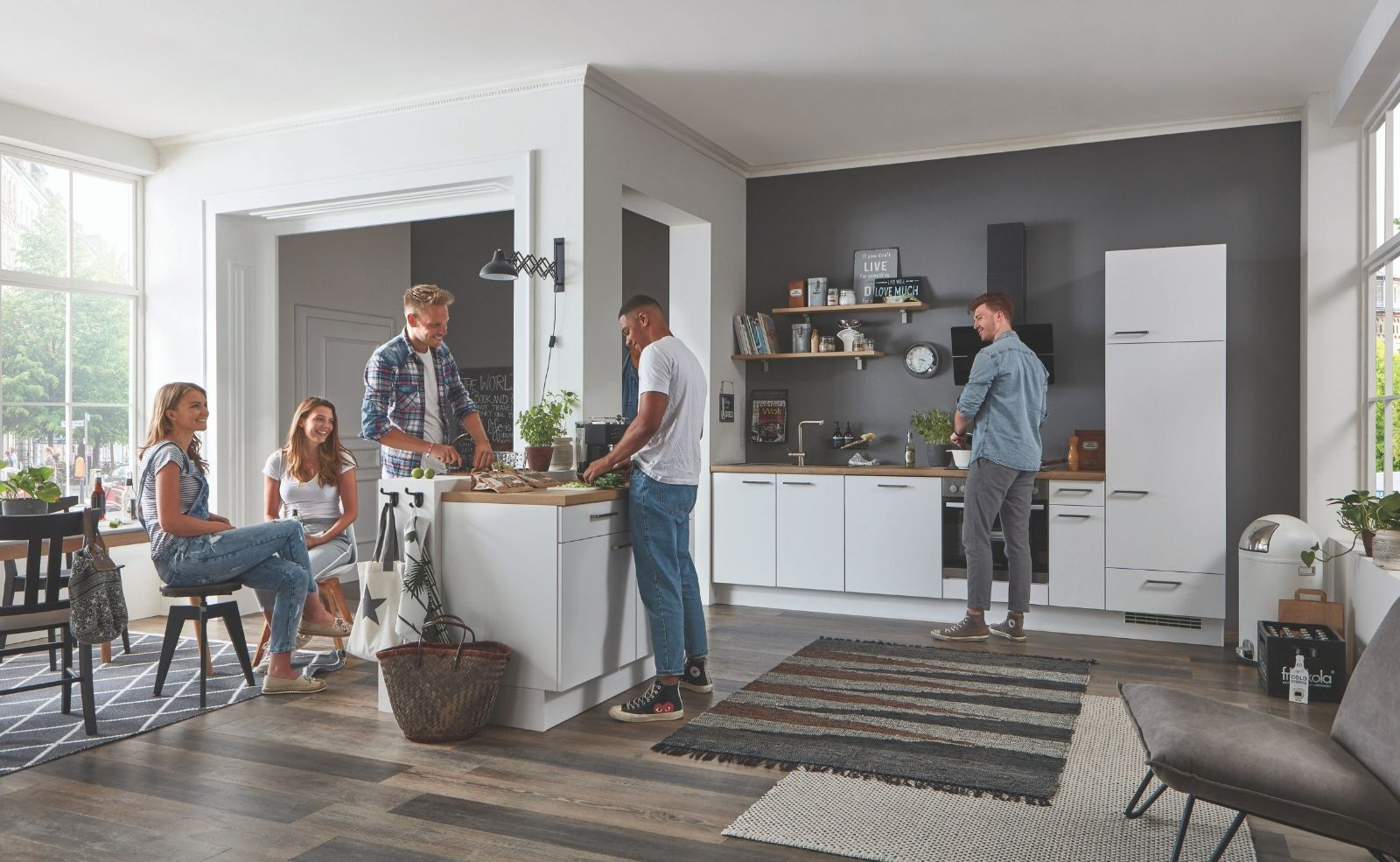 Die Küche ist in einer WG nicht nur zum Kochen da. Foto: nobilia elements