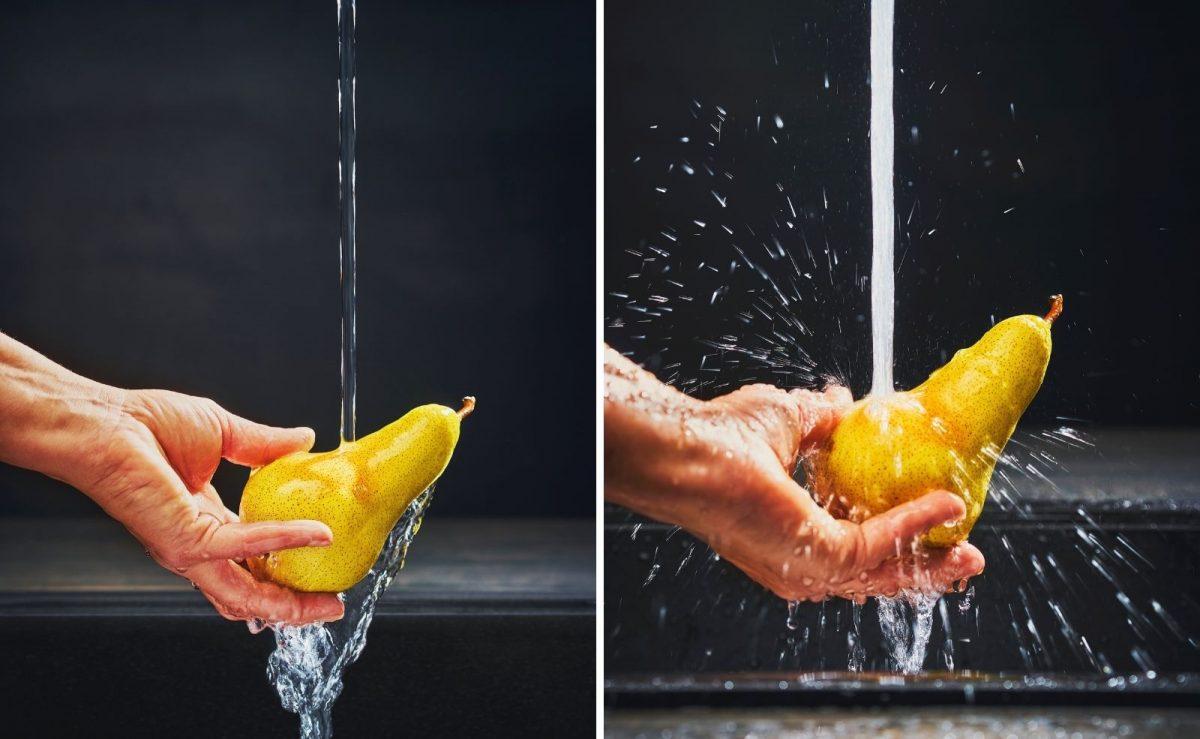 Die innovative Laminarstrahl-Technologie stellt sicher, dass keine Luftverwirbelungen in den Wasserstrahl kommen. So bildet sich ein kristallklarer Wasserstrahl mit deutlich geringerem Spritzverhalten.