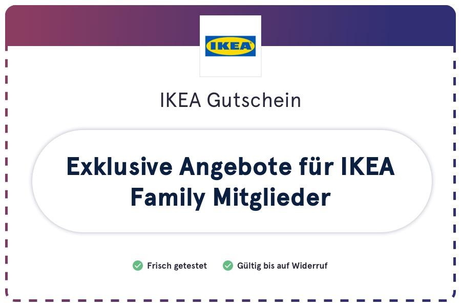 IKEA Gutschein (Coupon): Exklusive Angebote für IKEA Family Mitglieder