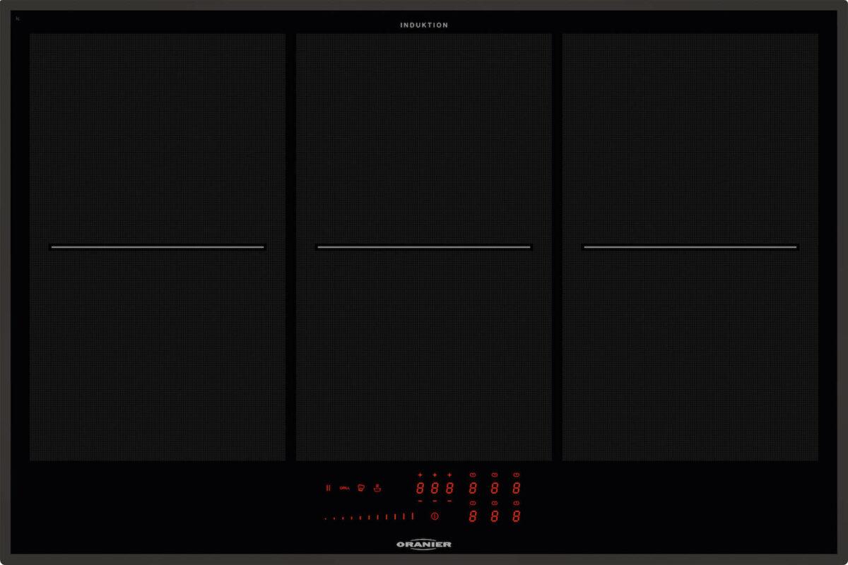Das Flächeninduktionskochfeld FLI 2086 gibt es im Rahmen der pureBLACK Reihe auch ganz in Schwarz. Foto: ORANIER